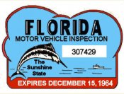 1964 Florida Safety Check Inspection sticker