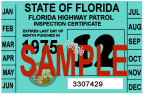 1975 Florida Inspection Sticker