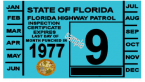 1977 Florida Inspection Sticker