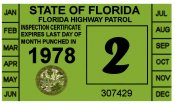 1978 Florida Inspection Sticker