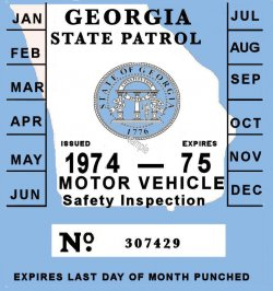 1974 Georgia inspection