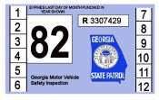 1982 Georgia Inspection Sticker