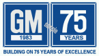 General Motors 75th Anniversary sticker 1983
