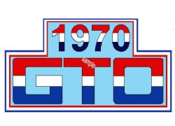 Pontiac GTO 1970 Sticker