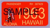 1963 Hawaii Registration Sticker