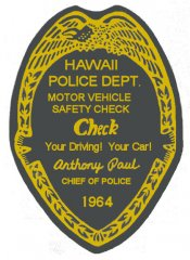 1964 Hawaii Inspection Sticker