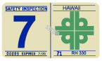 1970-71 Hawaii inspection sticker