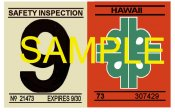 1972-73 Hawaii Inspection Sticker