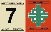 1978-79 Hawaii Inspection sticker
