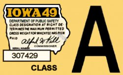 1949 Iowa Inspection sticker