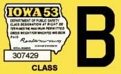 1953 Iowa Tax Registration sticker