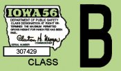 1956 Iowa Tax Registration sticker