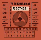 1978-81 Iowa Inspection sticker