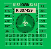 1981-84 Iowa Inspection sticker