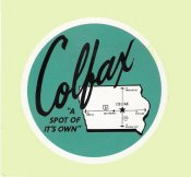 COLFAX Iowa Sticker