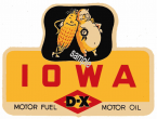 1950s Iowa DX Service Station sticker