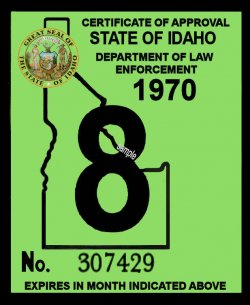 1969-70 Idaho inspection sticker