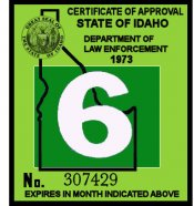 1972-73 Idaho Inspection Sticker