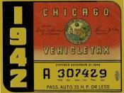 1942 Illinois (Chicago) Tax Sticker