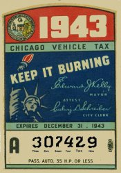 1943 Illinois tax inspection sticker (CHICAGO)
