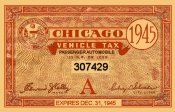 1945 Illinois tax sticker (CHICAGO)