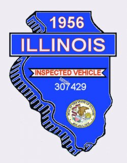 1956 Illinois Safety Check Inspection Sticker