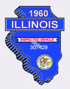 1960 Illinois Safety Check Inspection Sticker