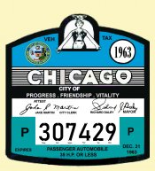 1963 Illinois Inspection registration CHICAGO