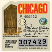 1965 IllinoisTax/Inspection sticker CHICAGO