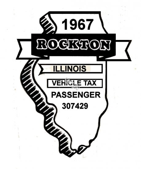 1967 Illinois Safety Inspection Sticker ROCTON - Click Image to Close