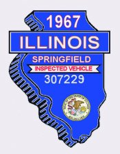 1967 Illinois Inspection sticker SPRINGFIELD
