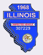 1968 Illinois state inspection sticker