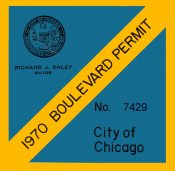 1970 Illinois Boulevard Sticker (CHICAGO)