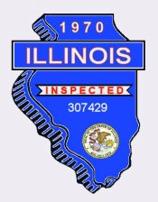 1970 Illinois Inspection Sticker