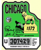 1972 IL Tax Inspection sticker (CHICAGO)