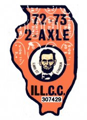 1972 Illinois Land of Lincoln tax sticker
