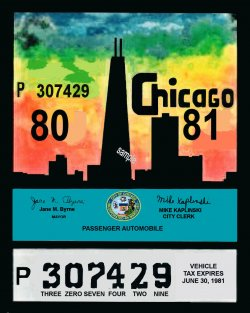 IL 1980-81 tax Inspection sticker Chicago