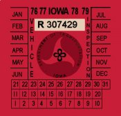 1976-79 Iowa Inspection Sticker