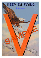 "1942 Keep Em Flying ""V"" WW2 Sticker"