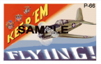 "1942 Keep Em Flying ""P66"" WW2 Sticker"