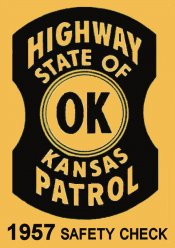 1957 Kansas inspection sticker