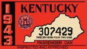 1943 Kentucky Inspection sticker