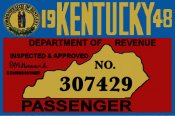 1948 Kentucky Inspection Sticker