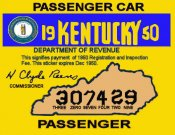 1950 Kentucky Inspection sticker