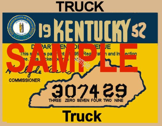 1952 Kentucky Truck Inspection Sticker - Click Image to Close