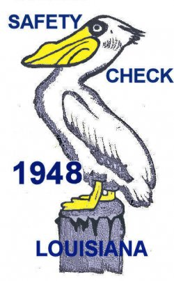 1948 Louisiana Safety check inspection sticker