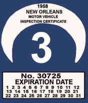 1958 Louisiana inspection NEW ORLEANS