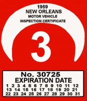 1959 Louisiana inspection NEW ORLEANS