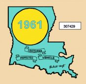 1961 Louisiana inspection sticker
