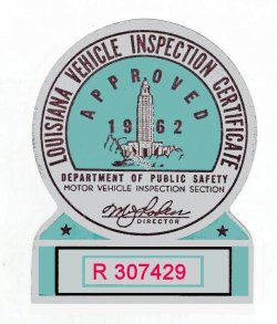 1962 Louisiana Inspection